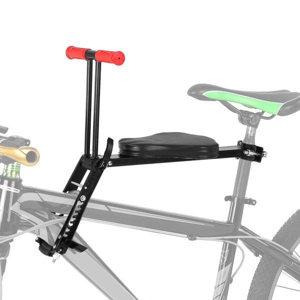 Foldable Bicycle Child Seat Aluminum Kids Bike Front Mount Bicycle Saddle Safety Front Seat Saddle