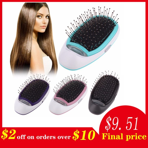 Ionic Electric Hairbrush Portable Electric Ionic Hairbrush Negative Ions Hair Comb Brush Hair Modeling Styling Magic