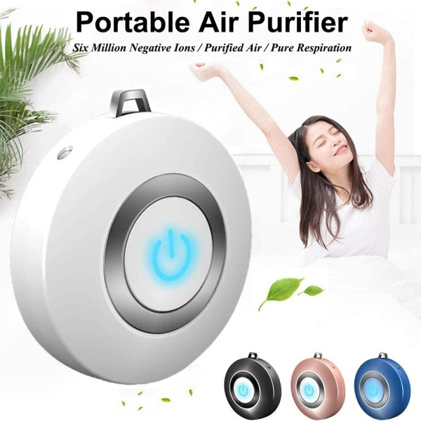 Mini Portable Anion Air Purifier Wearable USB Car Air Freshner Negative Ion Generator Odor Eliminator Remove