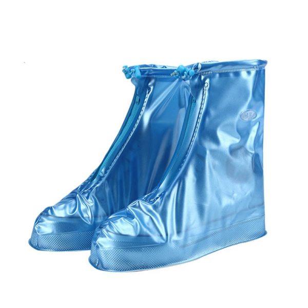 Reusable EVA Waterproof Rain Shoes Covers Slip resistant High Top Rubber Thicken Rain Boot Overshoes 6