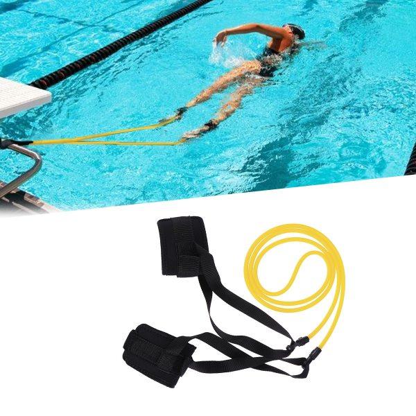 Swimming Resistance Belt Set Swim Training Band Swim Elastic Exerciser Belt with One Waist Strapk One