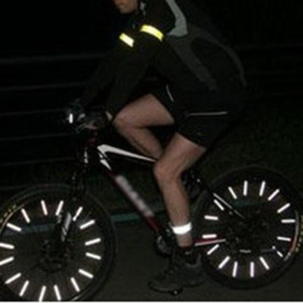 72 Pcs DIY Bicycle Reflective Sticks Mountain Bike Wheel Rim Safety Spoke Reflector Tube for Riding