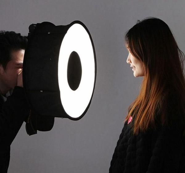 Flash Diffuser Foldable Speedlight Annular Photography Accessories Universal Professional Softbox 45CM