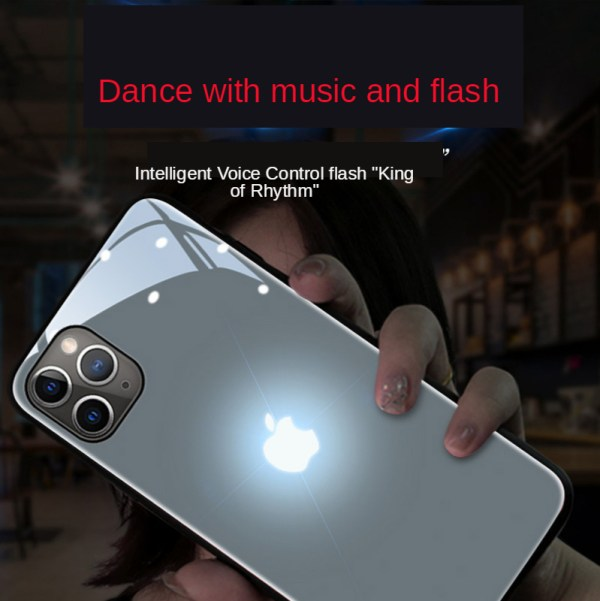 Luminous Phone Voice Controlled Glass Case for IPhone 7 Case Xs Max Case Clear View Smart