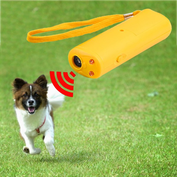 Pet Dog Repeller Anti Barking Stop Bark Training Device Trainer LED Ultrasonic 3 In 1 Anti