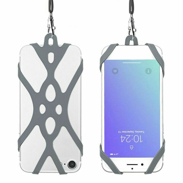 Strap Case For iPhone 11 Pro Max Silicone Lanyard Super Grip Phone Harnes Security Neck Strap