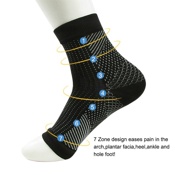 Women Ankle Heels Support Men Compression Foot Protect Angel Sleeve Heel Arch Support Pain Relief Hot