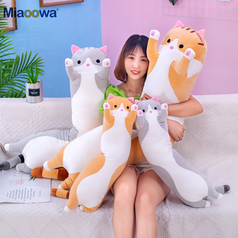 cuddly cat body pillow