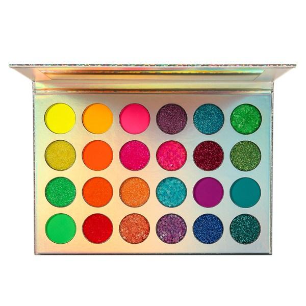 Lasting Aurora Glow Eyeshadow Stage Clubbing Neon Makeup Kit in Blacklight UV Glow in the Dark