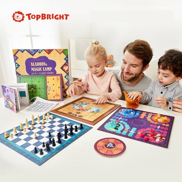 ToP BRIGHT 20 in 1 Classic Games with Aladdin s lamp Ludo Backgammon Checkers Chess Game