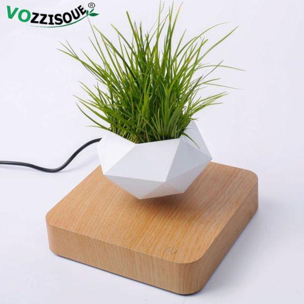 Hot Sale Levitating Air Bonsai Pot Rotation Planters Magnetic Levitation Suspension Flower Floating Pot Potted Plant 1