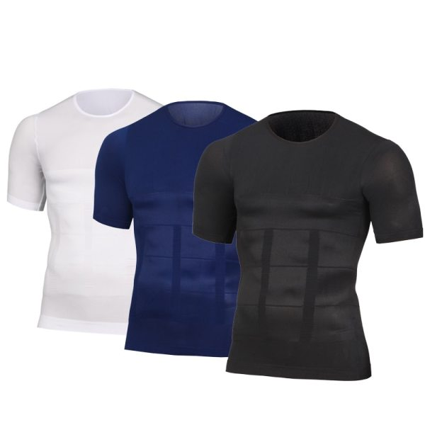 Mens Slimming Shaper Posture Vest Male Belly Abdomen For Corrector Compression Body building Fat Burn Chest