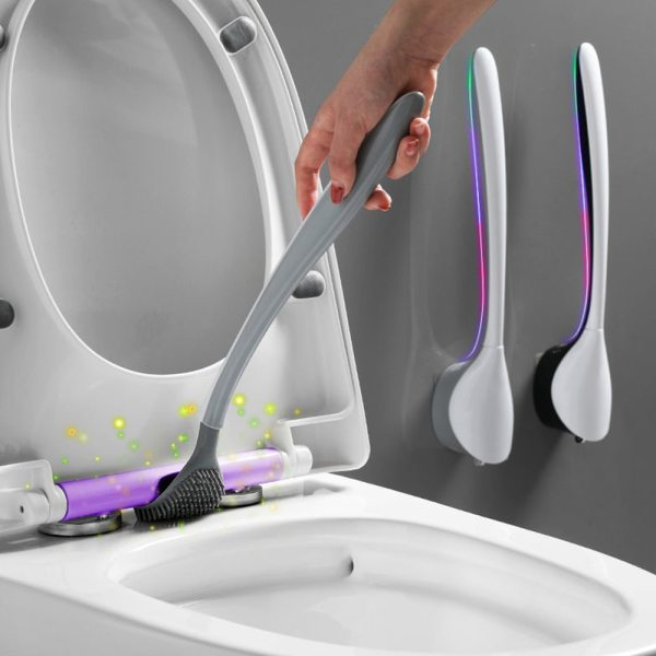 Silicone Wc Toilet Brush Flex Toilet Brush With Holder Wash Brushes Corner Wash Toilet Brush Household