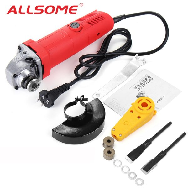 ALLSOME Wood Carving Chisel Set 800W 100mm Angle Grinder Polish Machine Grinding Cutting Polishing Woodworking Tool
