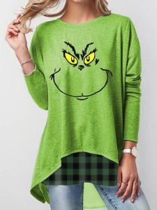 Grinch  Long Sleeve Casual Sweatshirt
