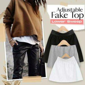 Adjustable Layering Fake Top Lower Sweep Set Skirt Half length Splitting A Version A66