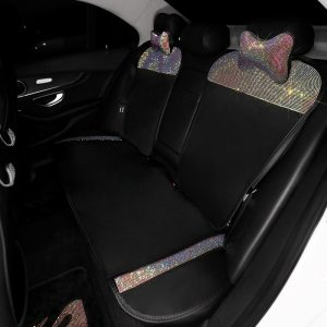 Car Seat Cover Crystal Rhinestone Auto Seat Cushion Interior Accessories Universal Front Back Seats Covers Car 1