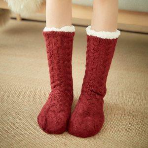 Glglgege twist stripes Winter Women Socks Women Non slip Adult Floor Socks Indoor Warm Shoes Soft 15.jpg 640x640 15