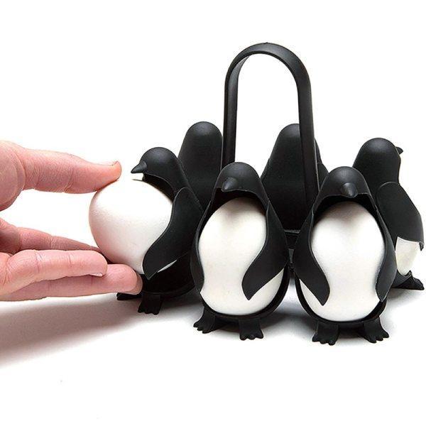 Multifunctional Penguin Egg Cooker Egg Poacher Eggs Holder Shelf Storage Rack Entainer Cooking Tools for Kitchen