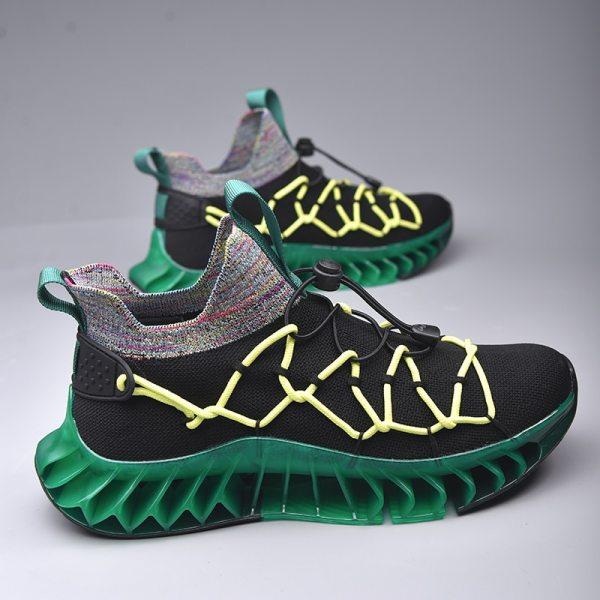 New Blade Sock Shoes Men Hard Wearing Casual Sneakers Women Height Increasing Chunky Footwear Flying Weaving
