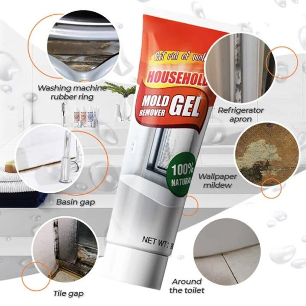 10g Mildew Cleaning Agent Household Tile Cleaner Floor Wall Mold Mildew Fungicide Detergent Mold Remover Gel