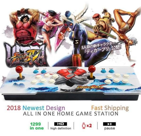 1299 Video Games in 1 Family Box Home Arcade Console with Dual Players Joystick Button HDMI