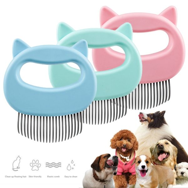 1pcs Portable Cat Dog Massage Shell Comb Grooming Hair Removal Shedding Pet Products Dog Supplies Home