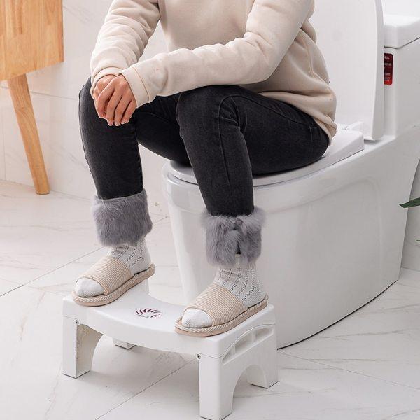 Home Foldable Squatting Stool Bathroom Squat Toilet Stool Compact Stool Portable Step Seat for Home Bathroom