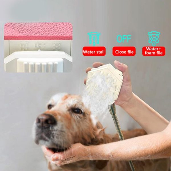 Professional Pet Bathing Tool Dog Shower Comb Pet Dog Cleaning Massage Brush