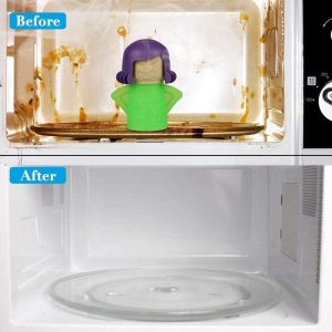 Angry Mama Microwave Steam Cleaner Microwave Oven Steam Cleaners Easily Clean In Minutes Cleans Add Vinegar 1