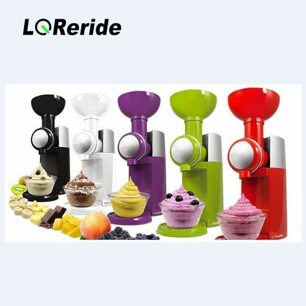 LQRIRIDE 220V Electric Ice Cream Machine Household DIY Fruit Ice Cream Good Quality Ice Cream Maker