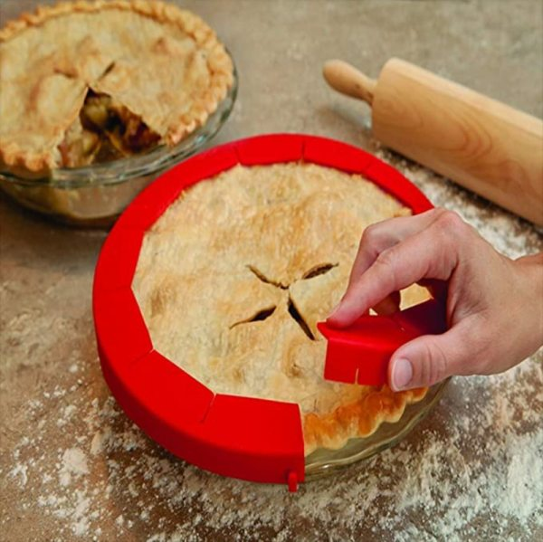 Pie Crust Shields Adjustable Pie Maker Silicone Pie Tools 1Pcs Baking Accessory Pie Tools Baking Accessory