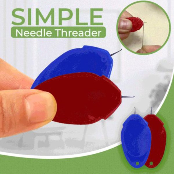 10PCS Needle Threader Simple Needle Threading Hand or Machine Threading Set Home