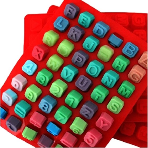 1Pc Letters Numbers Symbol Alphabet Silicone Chocolate Molds Handmade Diy Lattice Soap Candy Gummy Jelly Ice 3