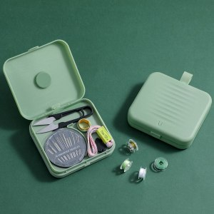 1Set Magnetic Sewing Kit 21 in 1 Travel Portable Storage Box DIY Embroidery Punch Needle Knitting 3