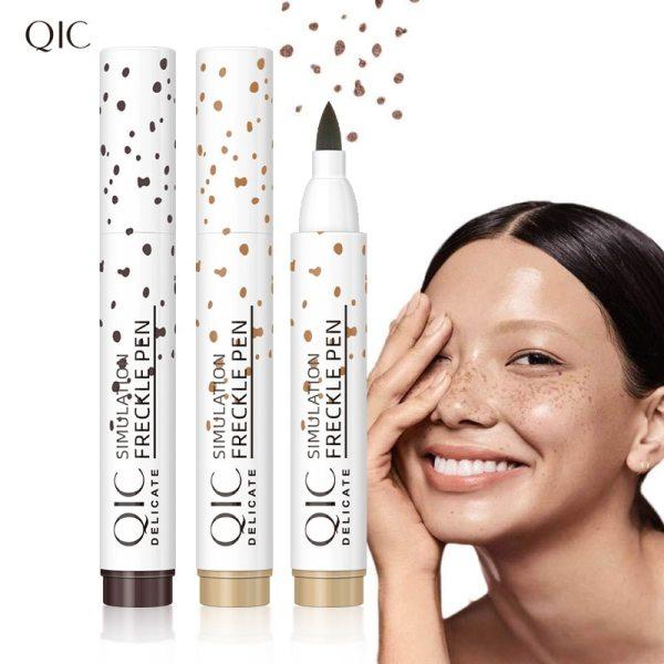 1pc Natural Lifelike Freckle Pen Soft Brown Freckle Pen Lasting Waterproof Dot Spot Pen Easy Point