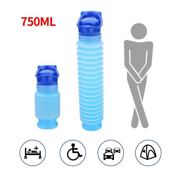 750ml Portable Adult Urinal Outdoor Camping High Quality Travel Urine Car Urination Pee Soft Toilet Urine