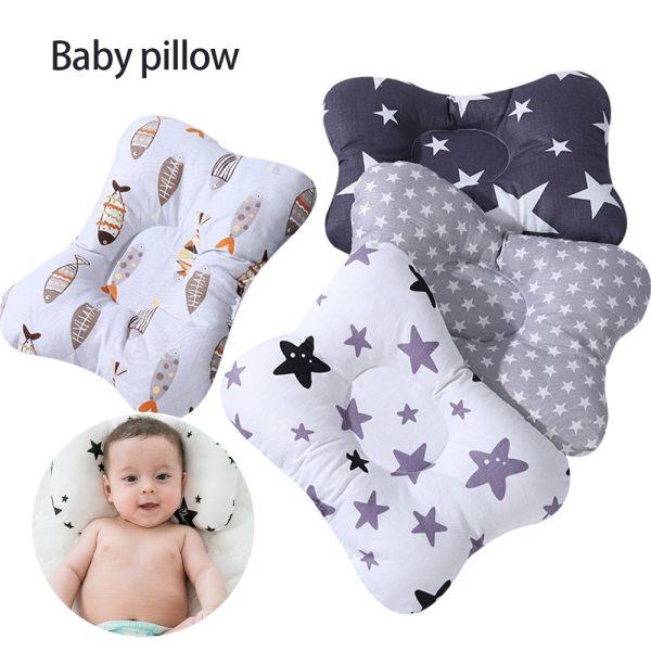 Baby Boys Girls Nursing Pillow Infant Newborn Sleep Support Concave Cartoon Pillow Printed Shaping Cushion Prevent