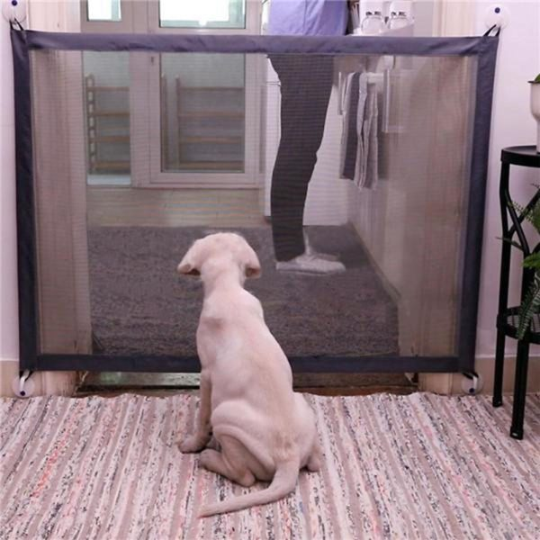 Dog Magic Gate Dog Pet Fences Ingenious Mesh Safe Guard Indoor and Outdoor Safety Enclosure Magic