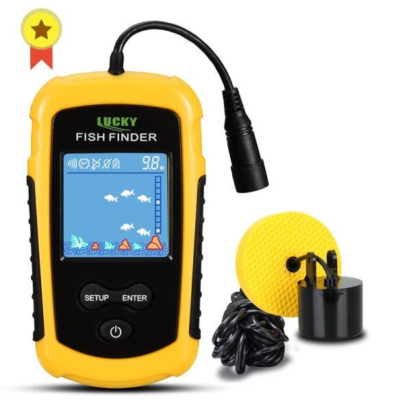 FFC1108 1 Alarm 100M Portable Sonar Fish Finders Fishing lure Echo Sounder Fishing Finder Lake Sea