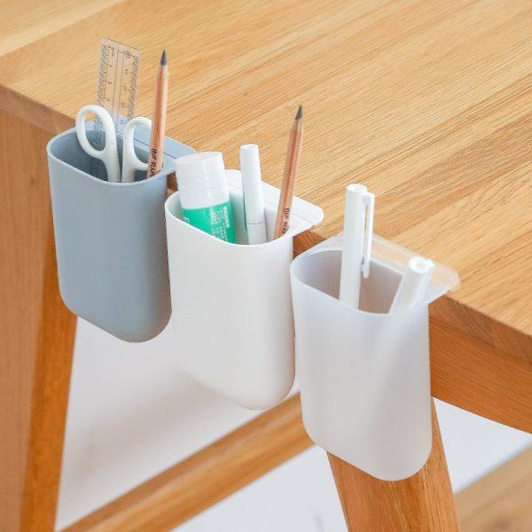 Hanging Desktop Storage Pen Holder Creative Organizer Gadget Self adhesive Storage Box Office Home Storage Container