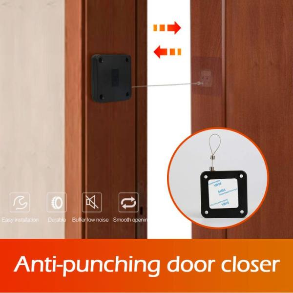 High Quality Suitable All Door Closer Anti corrosion Automatic Door Closer Punch Free Automatic Drawstring Door