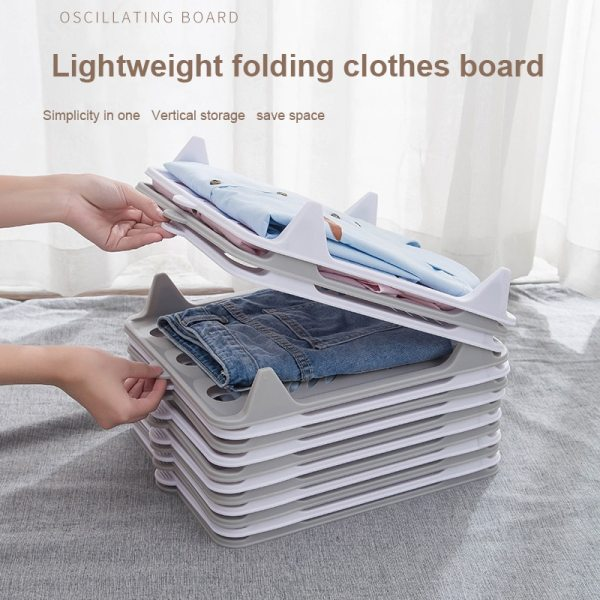Lazy Folding Clothes Folding Board Storage Holders Shirt Organizer T Shirt Folder Board Clothing Dividers Stackable