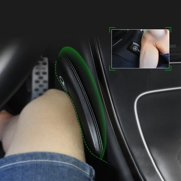 Leather Knee Pad for Car Interior Pillow Comfortable Elastic Cushion Memory Foam Universal Thigh Support Accessories