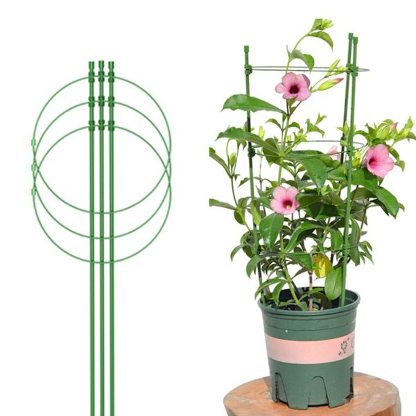 Plant Support Climbing Vine Rack 1 Pcs 45cm Plant Cages with Adjustable Rings Plant Fixed Climbing