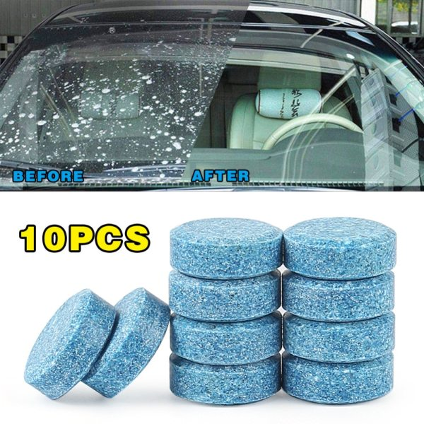 Practical water Car windshield Glass Washer Cleaner pill compact effervescent tablet detergent ultrasonic cleanercar accessories