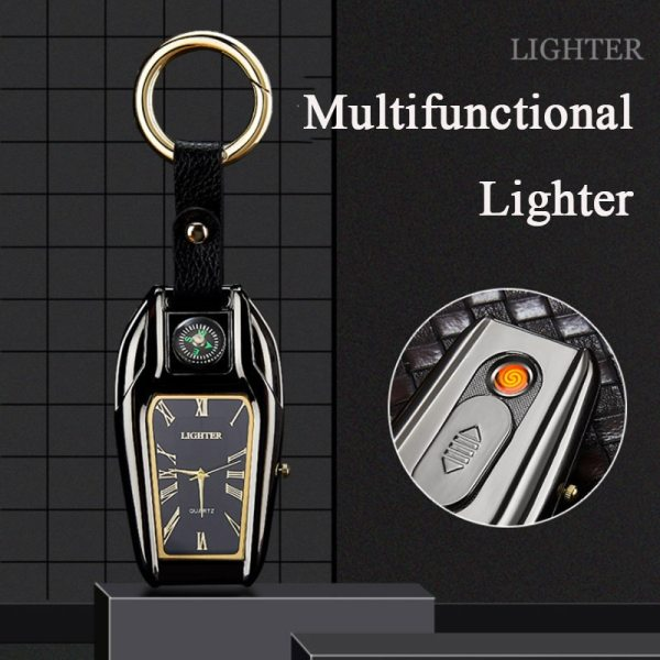 USB Electric Rechargeable Watch Lighter Gadgets For Men Novelty Cool Cigarette Lighter Dropship Suppliers Smoke Accesoires