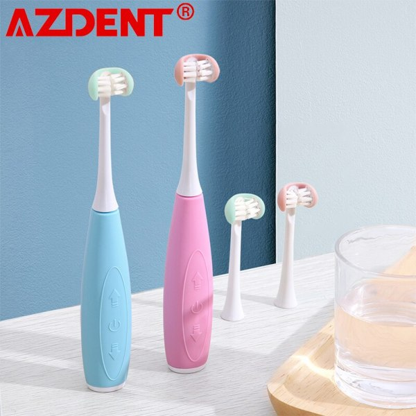 3 12years Old 3 Side Kids Sonic Electric Toothbrush 5 Modes Teeth Brush Cartoon Pattern for