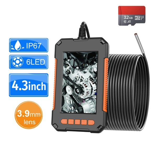3 9mm Industrial Endoscope Camera 1080P HD 4 3 IPS Screen Pipe Drain Sewer Duct Inspection