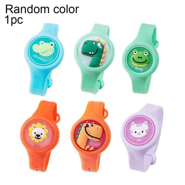 Children Mosquito Repellent Bracelet Glowing Silicone Baby Mosquito Repellent Wristband Cartoon Pattern Plant Mosquito Repellent